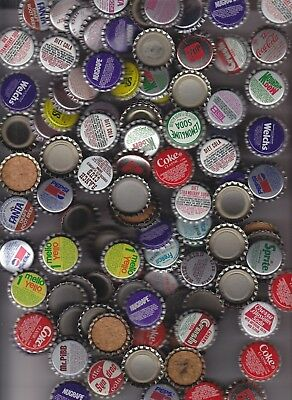 600  BOTTLE CAPS COKE PEPSI TAB ORANGE SODA 7up DR PEPPER ASSORTED UNUSED NOS