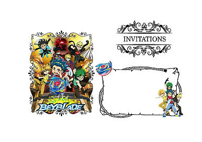 5 enveloppes pour cartes invitation anniversaire  BAYBLADE  BUST  n°16