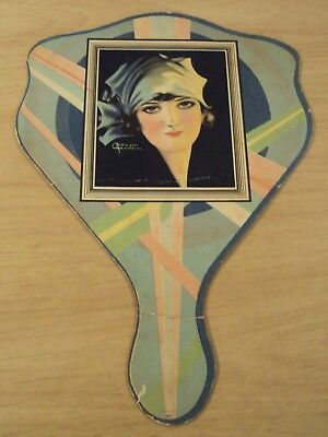 "VTG 1930's ADVERTISING Fan~""ASSOCIATION COFFEE""~Wilson Hammell Pin UP Art~"