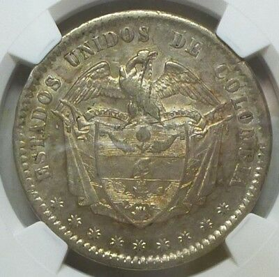 Colombia Peso 1863  AU 58 NGC