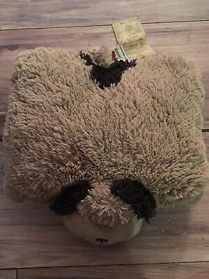 PILLOW PETS Pee Wee Puppy Dog SNUGGLY Folding BROWN STUFFED PLUSH PAL 12""