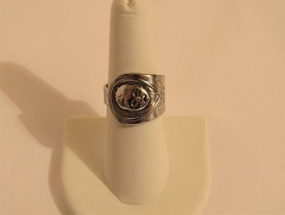 Gerber Baby Adult Ring Size 7.75 Vintage collectible Oneida Silverplate Handle