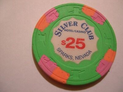 $25.00 Silver Club, Sparks, Nv. Scallop Inlay,