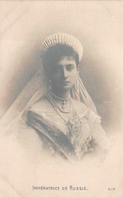 RPPC IMPERATRICE EMPRESS OF RUSSIA ROYALTY REAL PHOTO POSTCARD (c. 1905)