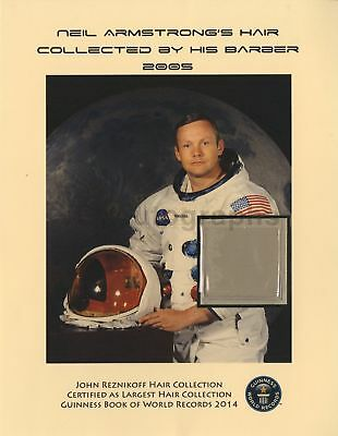 Neil Armstrong Strands of Hair Guinness World Record Collection John Reznikoff