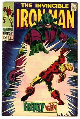 Iron Man #5 (1968) VG/F New Marvel Silver Bronze Collection
