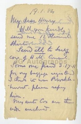 """Charles """"Chinese"""" Gordon - Crimean War British Army Officer - Letter Dated 1884"""