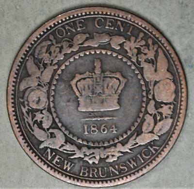 Canada - New Brunswick 1864 Large Cent