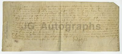 """1399 - Nearly 600+ Year Old French Antique Doc. - ID as """"Dunois (Eure-et-loir)"""""""