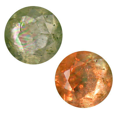 1.84 ct Eye-popping Round Shape (8 x 8 mm) Un-Heated Color Change Diaspore