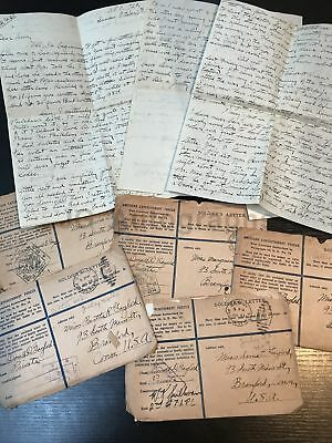 WWI Soldiers Letters - Charles Gaylord 1918 - 5 Hand Written War Date Letters