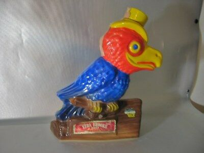 vintage 1969 EZRA BROOKS KU KANSAS UNIVERSITY J JAY HAWKS WHISKEY DECANTER