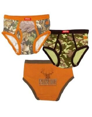 Farm Boy 3-Pack Underwear Deer And Camo Camoflauge Infant Size 4 NIP