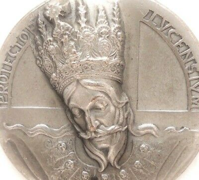 Extraordinary Art Medal With High Relief Portrait Of Saint Paulinus Of Antioch