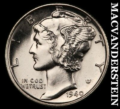 1940-S Mercury Dime - Choice Gem  Brilliant Uncirculated+++++!!  #c2124