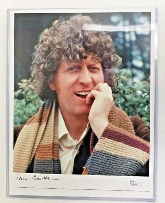 Tom Baker Dr. Who Signed Autograph 8 x 10 JSA Certified Sticker with COA Card