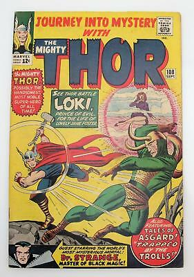 Journey Into Mystery #108 (F) 6.0 Silver Age Marvel, Loki Tales of Asgard Thor