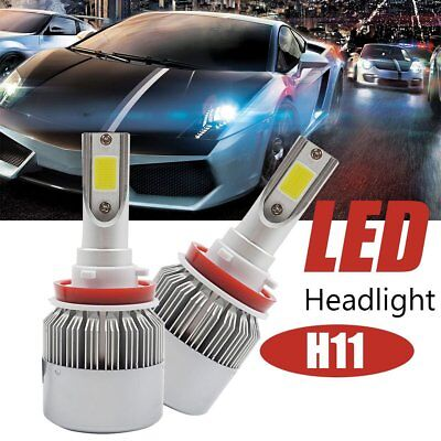 LED Headlight Kit H1 H3 H7 H8 880 9005  72W 7600LM 6000K Low Beam Fog Bulb HID