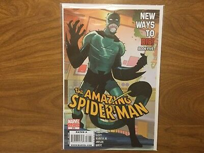 Marvel 2008 Amazing Spider-Man 572 2nd Print Variant John Romita Jr Scorpion