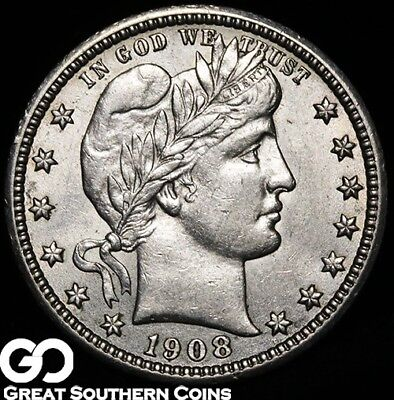 1908 Barber Quarter, Beautiful Collector Coin