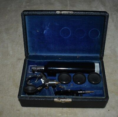 Vintage Bausch & Lomb Arc-Vue Otoscope May Ophthalmoscope In Case,