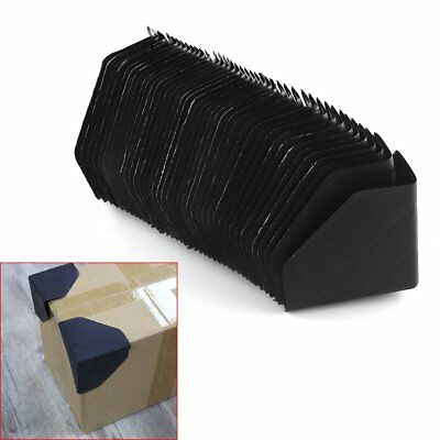 "US 40 pcs plastic packing corner protector shipping edge cover 3"" Black"