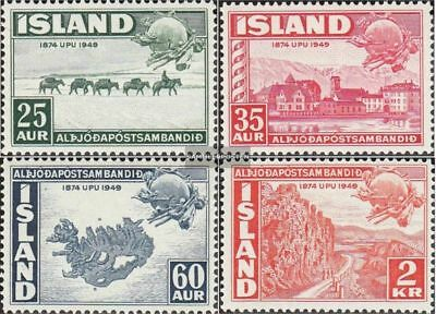 Iceland 259-262 (complete issue) unmounted mint / never hinged 1949 75 years UPU