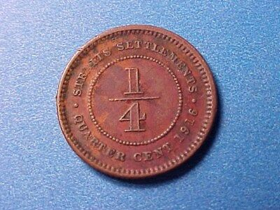 Straits Settlements 1/4 Cent 1916 George V