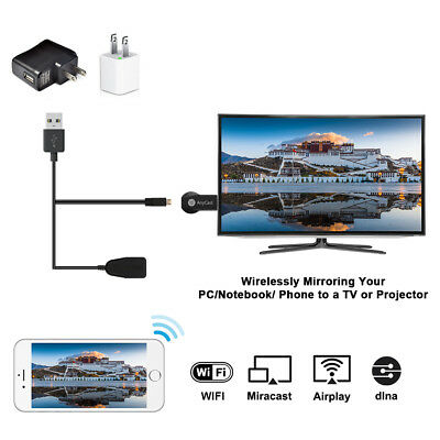 M4 Plus AnyCast WiFi Display TV Dongle Miracast Airplay HDMI Plug Receiver AH367