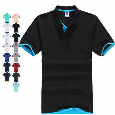 AU SELLER Classic Men's Adults Cotton Plain Basic Golf Polo Lapel T-Shirt  mt002