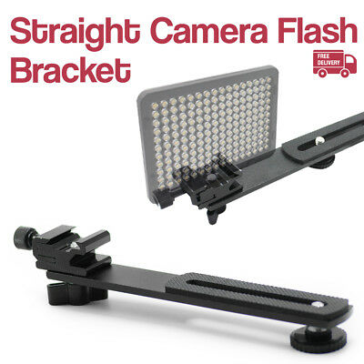 "Straight Adjustable 6.3"" Bracket Hot Shoe Mount 1/4"" Screw for Camera Tripod"