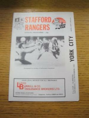 21/11/1981 Stafford Rangers v York City [FA Cup] . No obvious faults, unless des