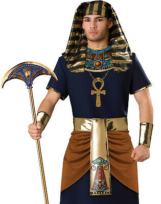 Pharaoh King Of The Nile Egyptian King Tut Mens Historic Halloween Costume