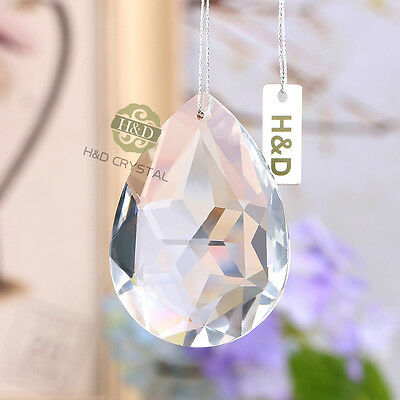 5 Clear Redbud Chandelier Glass Crystal Lamp Prisms Hanging Drops Pendant 63mm