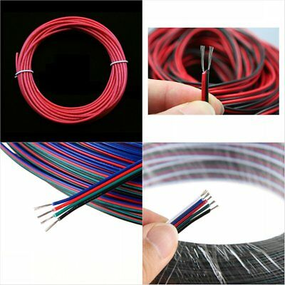 1/2/4/5Pin 22AWG 5m/10m/20m/50m Flexible PVC Insulated Extension Wire Cable Cord