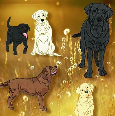 Realistic Labrador 10 Machine Embroidery Designs Cd 4 Sizes Included
