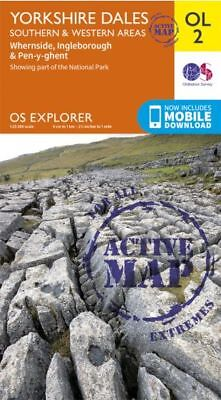 OL2 Yorkshire Dales South & West Laminated ACTIVE Explorer Map OL 2