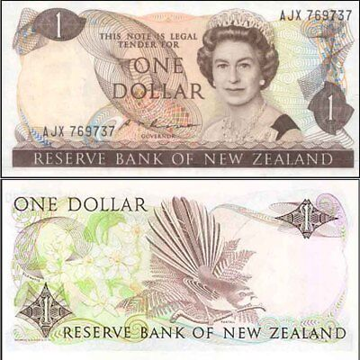 New Zealand Mint 1985 $1 ALE Russel 1st QE2 Governor Paper Banknote issue p169b