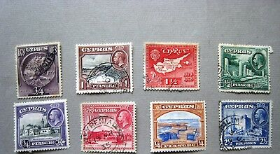 Unchecked Selection Of Cyprus Stamps George V.  Lot#863