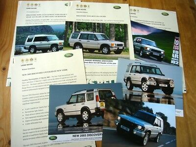 Land Rover Discovery II awards etc press releases & photos, 2000s, excellent
