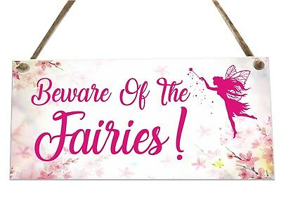 Beware Of The Fairies Quote Wooden Novelty Plaque Sign Gift fcp65