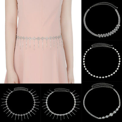 Fashion Diamante Crystal Waist Chain Belt for Wedding Dress Belly Dance Jewelry