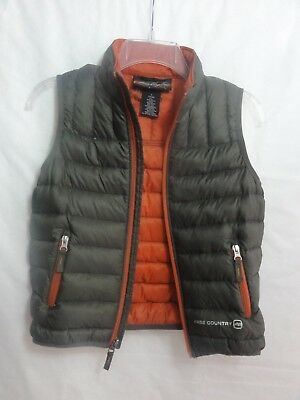 Free Country Boy's Ultra Lightweight Down  Vest OLIVE green sz 7/8 Perfect