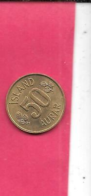 Iceland Km17 1973 Xf Fine-Nice Old Vintage Circulated Used 50 Aurar Coin