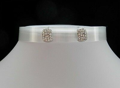 Stud Earrings, Rhinestone Stud Earrings E6A66