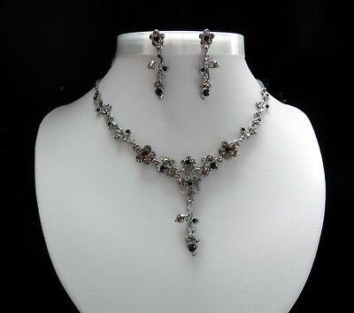 Party Necklace/Earrings Set With Australia Crystals, Flower Necklace N3103