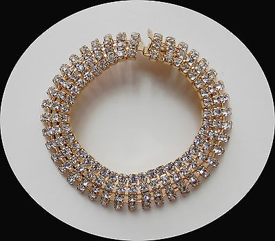 Hot Sale Vintage Rhinestones Golden Bracelet Party Jewelry Gifts B54
