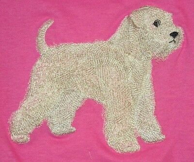 Embroidered Long-Sleeved T-Shirt - Wheaten Terrier C9628 Sizes S - XXL
