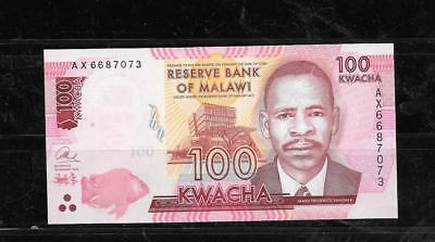 Malawi #65 2014 100 Kwacha Unc Mint  Banknote Paper Money Currency Bill Note
