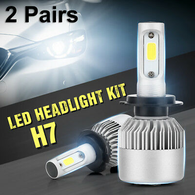LED S2 H7 200W 30000LM Headlight Car Conversion CREE Bulb Fog Light 6500K LD1333